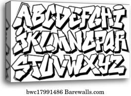 Graffiti font type alphabet part 2, Canvas Print | Barewalls