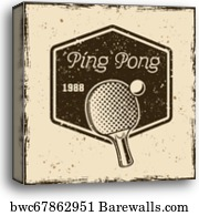Ping Pong Typographical Vintage Gru Art Print Home Decor Wall Art Poster C
