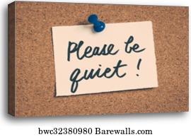 please be quiet canvas print barewalls posters prints bwc32380980