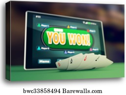 Four Aces Poker Icon Canvas Print Barewalls Posters Prints Bwc2554102