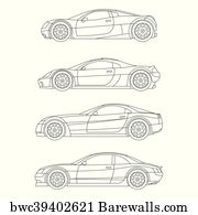 Canvas Print Of Muscle Car Barewalls Posters Prints Bwc31232212