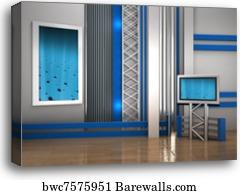 canvas print of 3d studio tv virtual set barewalls posters