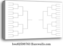 Tournament Bracket, Canvas Print | Barewalls Posters & Prints