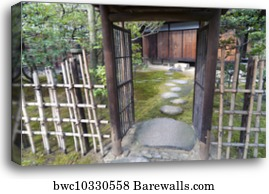 Canvas Print Of Zen Garden Entrance Barewalls Posters Prints