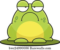 Art Print of Cartoon Frog On Lilypad Barewalls Posters Prints
