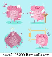 art print of cartoon intestines feel pain barewalls posters