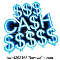 art print of cash sign winning prizes concept barewalls posters