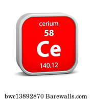 6287 periodic table of the chemical elements posters and art prints periodic table of the chemical elements art print poster cerium material sign urtaz Image collections