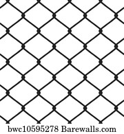 chain link fence vector. Chainlink Fence Art Print Poster - Chain Link Vector A