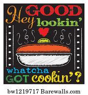 Kitchen Art Art Print Poster   Chalkboard Kitchen Art 3