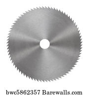 circular saw blade art. circular saw blade art print poster - for wood isolated on white