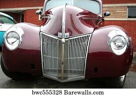 Art Print Of Red Classic Car Barewalls Posters Amp Prints