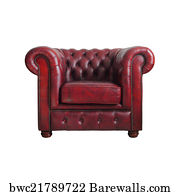 af8f562d3dd Art Print Poster - Classic Red Leather Armchair Isolated On White Background  With C