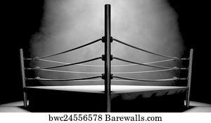 Classic Vintage Boxing Ring Art Print Barewalls Posters
