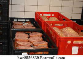 Meat Cold Storage Art Print Poster   Cold Cut Factory
