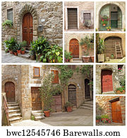 collage with rustic italian doors & Art Print of Collage with rustic italian doors | Barewalls Posters ...