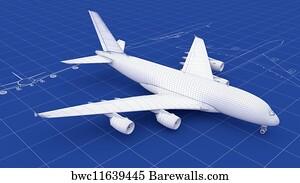 Art print of jet fighter aircraft blueprint barewalls posters art print poster commercial aircraft blueprint malvernweather Choice Image