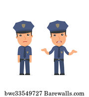 4 021 police officer cartoon character posters and art prints