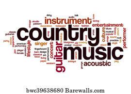 Art Print Of Country Music Word Cloud Barewalls Posters Prints