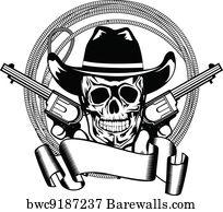 old flintlock pistol art print barewalls posters prints Flintlock Pistal art print poster cowboy and two pistols