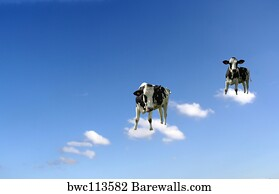 Art Print Of Cows On Clouds Barewalls Posters Prints Bwc113582