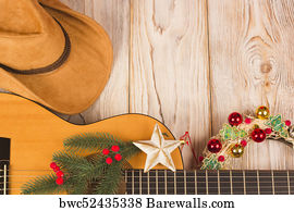 American Cowboy Country Music Background Art Print Poster