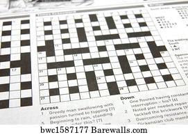 Newspaper Crossword Puzzle Art Print Poster