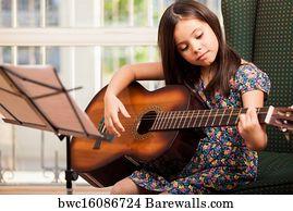 8 511 girl plays guitar posters and art prints barewalls