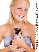 Cute Pre Teen Girl Art Print Barewalls Posters Prints Bwc14007385