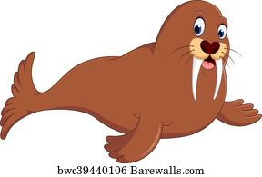 140 walrus clipart posters and art prints barewalls rh barewalls com walrus clip art black and white walrus head clipart
