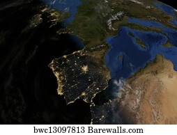Satellite Map Of Spain.42 395 Satellite Map Posters And Art Prints Barewalls