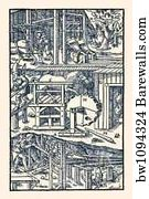 De Re Metallica Plate 19 Operating The Bellows Art Print Barewalls Posters Prints Bw1094324
