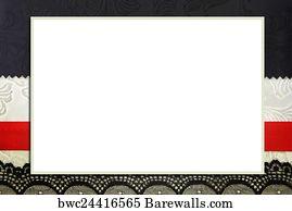 canvas print decorative template with photo frame scrapbook photobook concept