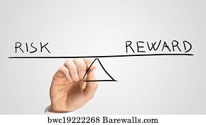 Art Print Of Diagram Of Seesaw Showing Risk And Reward Barewalls