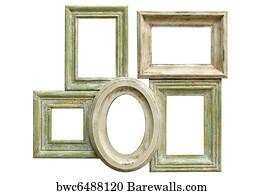 distressed frame art print poster distressed picture frames - Distressed Frames