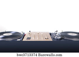 Dj Equipment Art Print Poster