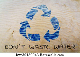 Save Water Recycle Symbol Art Print Barewalls Posters