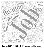 resume writing art print poster effective resume writing word cloud concept