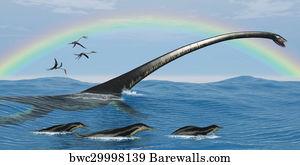 art print of elasmosaurus marine reptile barewalls posters