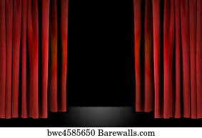 Old Theater Curtains Background Art Print Poster