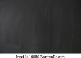 blank chalkboard art print poster empty blank black chalkboard with chalk traces