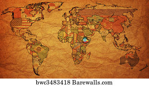 Art print of ethiopia on world map barewalls posters prints ethiopia on world map gumiabroncs Gallery