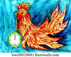 art print of fancy rooster art barewalls posters prints
