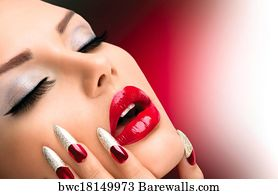 18109 nail art posters and art prints barewalls nail art art print poster fashion beauty model girl manicure and make up prinsesfo Image collections