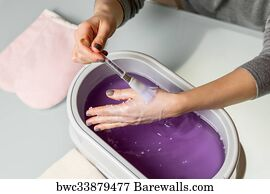 Art Print Of Female Hands In A Paraffin Wax Bowl