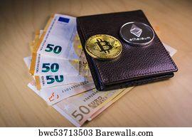 Bitcoin Wallet Art Print Poster