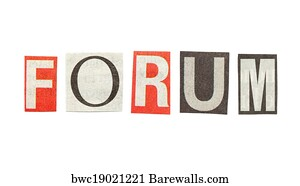 Art print of forum cutout newspaper letters barewalls posters forum cutout newspaper letters spiritdancerdesigns Gallery