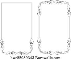 51 165 scroll border posters and art prints barewalls