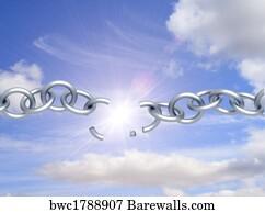 Broken Chain Art Print Poster