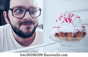 Dunny Door Art Print Poster - Funny Man Sees The Sweet Cake In The Fridge  sc 1 st  Barewalls & 11 Dunny door Posters and Art Prints | Barewalls